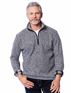 Fleece Zipper with Half Zip neck.