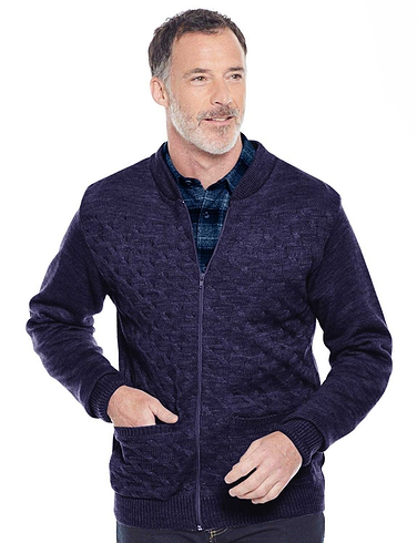 Tootal Mens Cable Knit Zipper