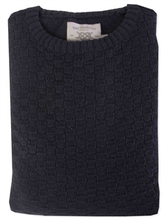 Bar Harbour Basket Knit Wool Blend Jumper