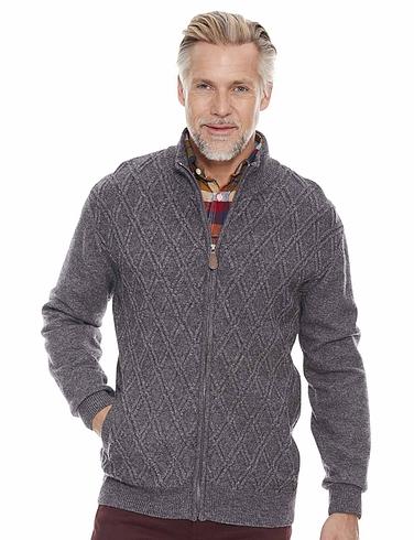 Pegasus Lambs Wool Blend Textured Zipper