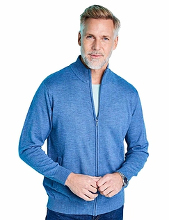 Pegasus Luxury Yarn Zip Through Cardigan With Pockets