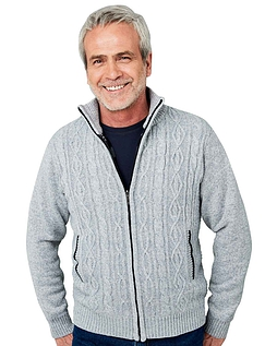 Pegasus Fleece Lined Cable Knitted Zipper
