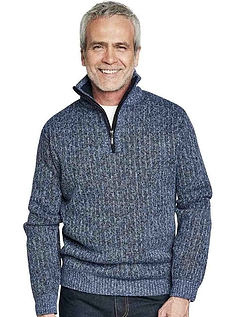 Pegasus Quarter Zip Fleece Lined Knitted Top