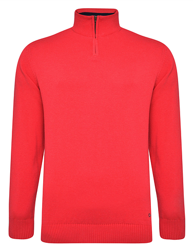 Peter Gribby Quarter Zip Neck Cotton Jumper