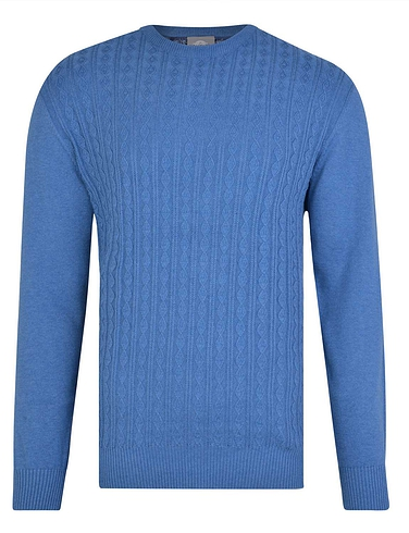 Peter Gribby Cable Cotton Crew Neck Jumper