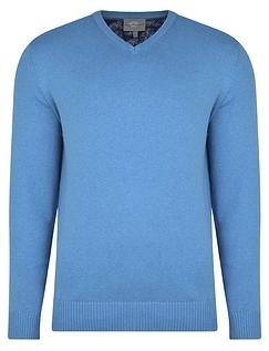 Peter Gribby Premium Combed Cotton V Neck Jumper