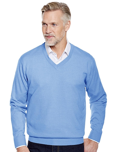 Fine Gauge V Neck Sweater