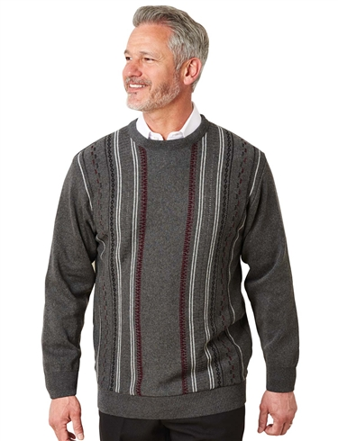 Woodville Jacquard Knitwear Crew Neck Sweater