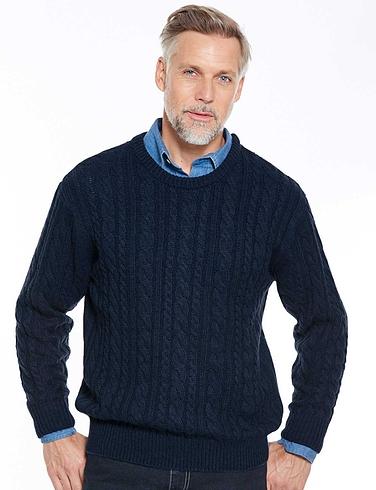 Pegasus Shetland Cable Sweater