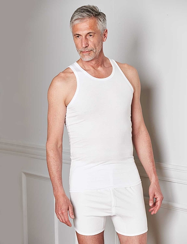 Pack Of 2 Cotton Singlets