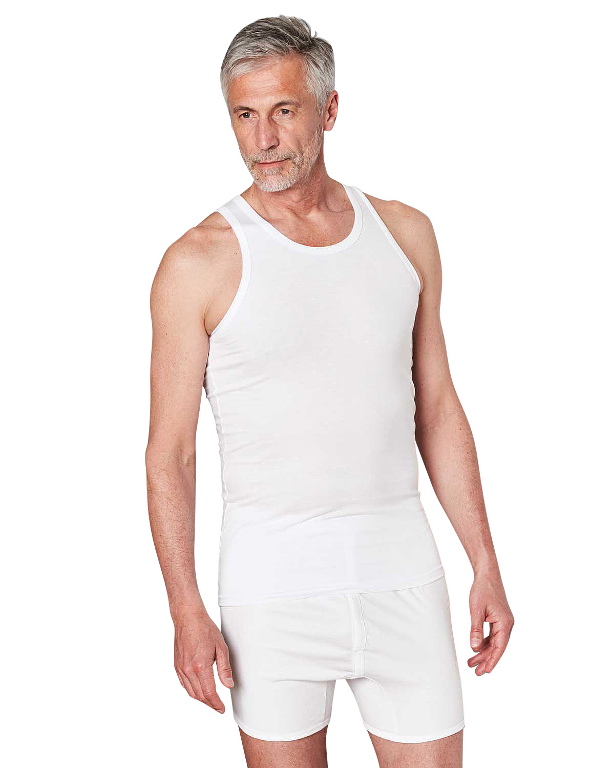 Pack Of 2 Cotton Singlets - White