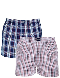 Pack of 2 Jockey Woven Check Boxers