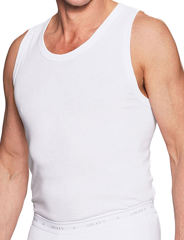 Jockey 3 Pack of Men's Vests - White