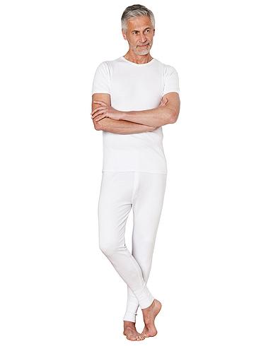 Thermal Long Back Vest - White