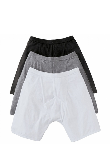 Pack Of 3 Knitted Boxer Short With Stretch.