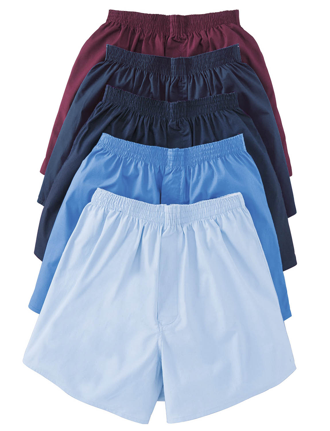 Pack of 5 Plain Boxers - Assorted