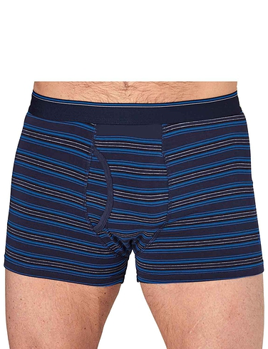 Farah Keyhole 2 Pack Knitted Printed Boxers