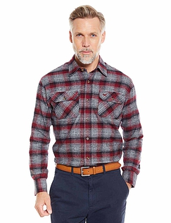 Mens Soft Handle Brushed Check Shirt