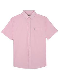 Farah Short Sleeve Shirt With Button Down Collar