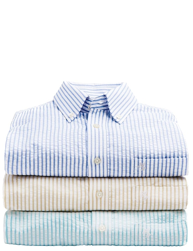 Pegasus Seersucker Stripe Shirt