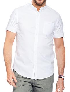 Short Sleeve Grandad Collar