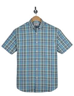 Rael Brook Seersucker Check Short Sleeve Shirt