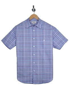 Rael Brook Fine Over Layed Check Short Sleeve Shirt