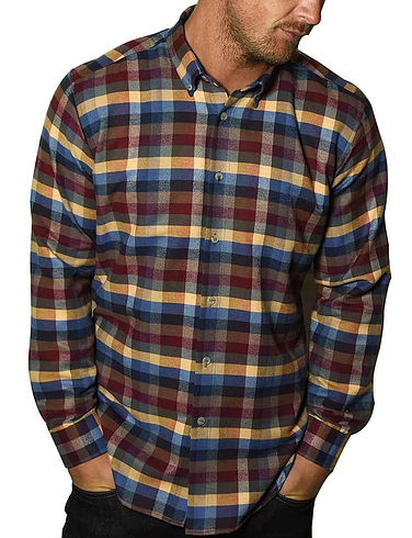 Southern Comfort Long Sleeve Brushed Check Shirt - MULTI