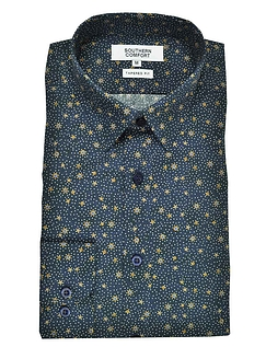 Southern Comfort Long Sleeve Print Shirt - Navy