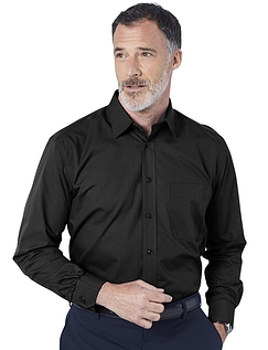 Double Two Non-Iron Long Sleeved Shirt - Black