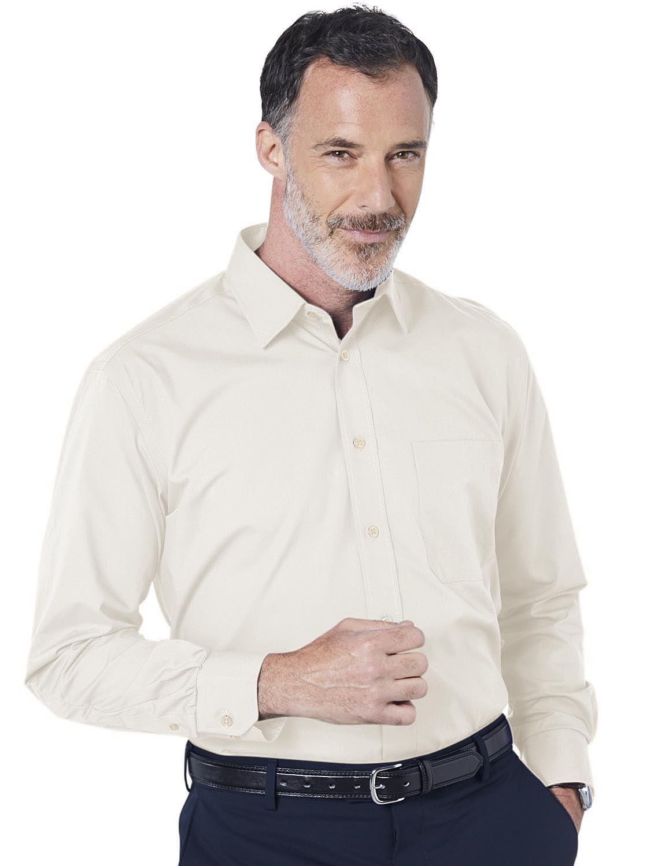 Double Two Non-Iron Long Sleeved Shirt - Cream