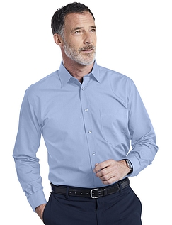 Double Two Non-Iron Long Sleeved Shirt - FRESH BLUE