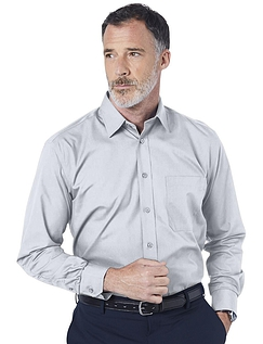 Double Two Non-Iron Long Sleeved Shirt - ICE GREY