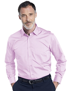Double Two Non-Iron Long Sleeved Shirt - NEW PINK