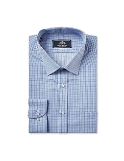 Rael Brook Classic Fit Micro Check Single Cuff Shirt
