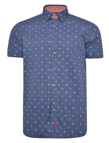 Lizard King Short Sleeve Contrast Collar Shirt