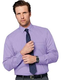 Rael Brook Long Sleeve Shirt And Tie Set - Lilac