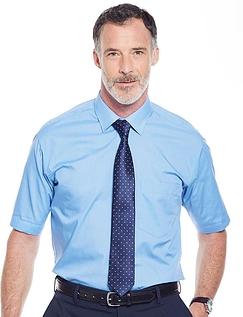 Rael Brook Short Sleeved Shirt And Tie Set - MID BLUE