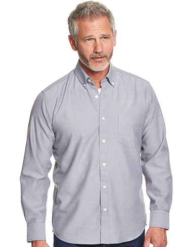 Oxford Weave Shirt With Chest Pocket