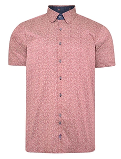 Printed Short Sleeve Shirt With Button Down Collar