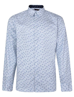 Lizard King Long Sleeve All Over Printed Shirt - White