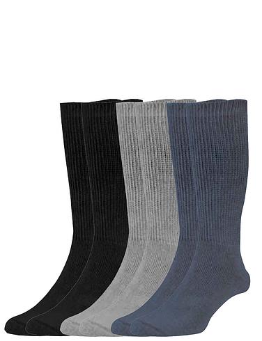 Six-Pack Value Mens Diabetic Socks