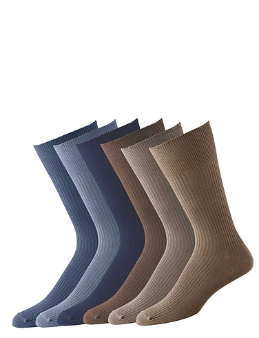 Pack Of 6 Gentle Grip Socks