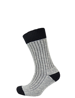 Two Pack Cotton Rich Knitted Walking Socks
