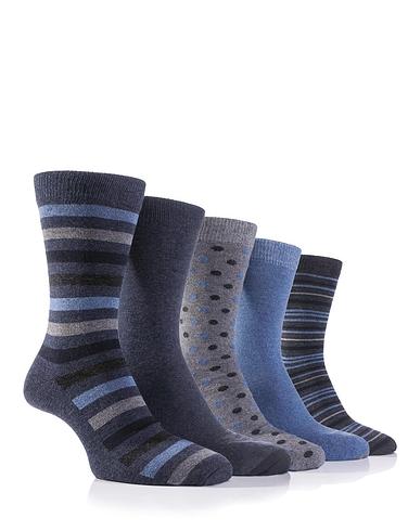 Farah 5 Pack Design Socks