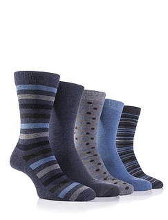 Farah Pack Of 5 Design Socks