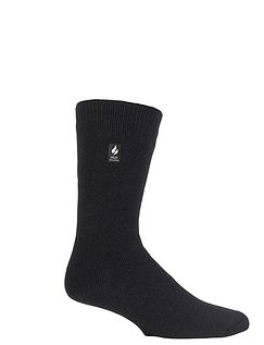 Two Pack Heat Holders Fleece Lined Thermal Knitted Sock