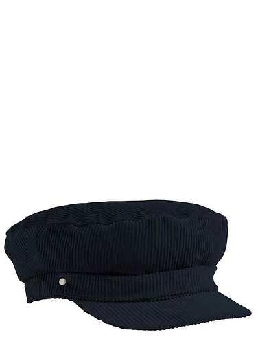 Cord Barge Cap Elasticated Back - Navy