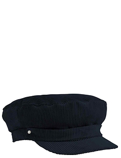 Cord Barge Cap Elasticated Back