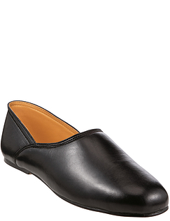Leather Grecian Slipper With Leather Sole